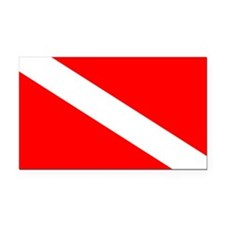 Diver Down Rectangle Car Magnet