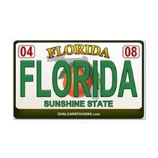 Florida License Plate Rectangle Car Magnet