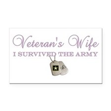 I Survived The Army Rectangle Car Magnet