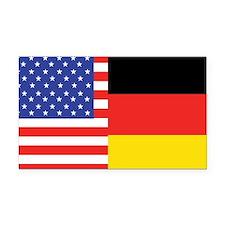 USA/Germany Rectangle Car Magnet