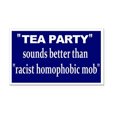 anti-tea Rectangle Car Magnet