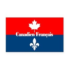 Canadien Francais Rectangle Car Magnet