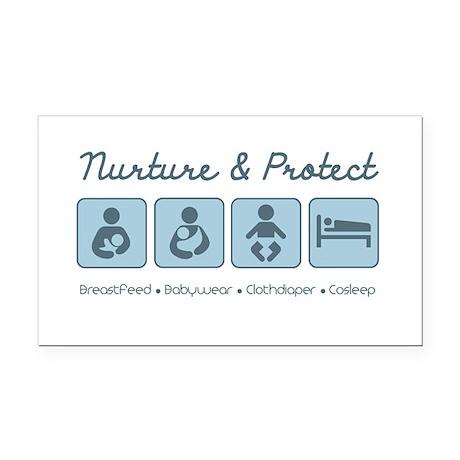 Nurture & Protect Rectangle Car Magnet