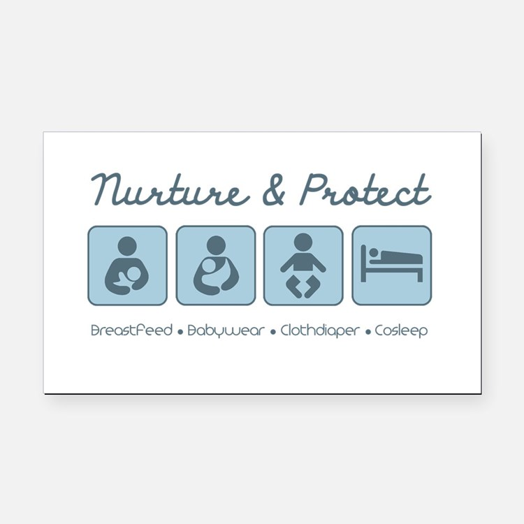 Nurture & Protect Rectangle Car Magnet