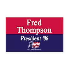 """""""Fred Thompson for President"""" Rectangle Car Magnet"""