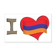 I heart Armenia Rectangle Car Magnet