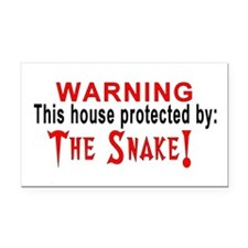 Protected By: The Snake Rectangle Car Magnet