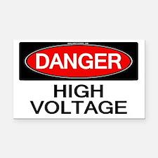 Danger! High Voltage Rectangle Car Magnet