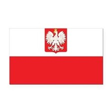 Poland State Flag Rectangle Car Magnet