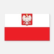 Poland State Flag Rectangle Car Magnet