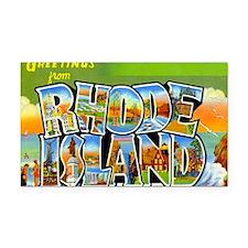 RHODE ISLAND RI Rectangle Car Magnet