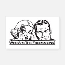 Who Are The Freemasons Rectangle Car Magnet