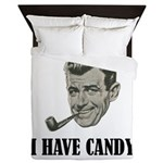 I Have Candy Black.png Queen Duvet