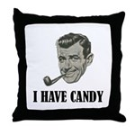 I Have Candy Black.png Throw Pillow