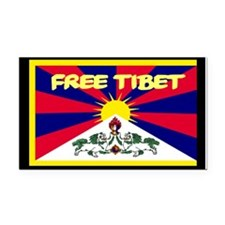 Free Tibet Rectangle Car Magnet