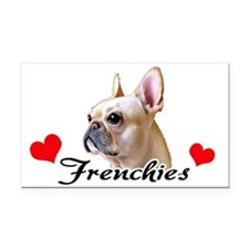 Love Frenchies - Creme Rectangle Car Magnet