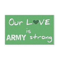Army Strong Rectangle Car Magnet