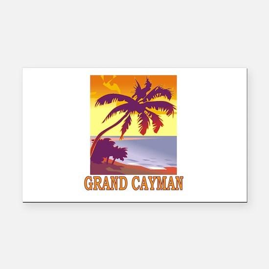 Grand Cayman Rectangle Car Magnet