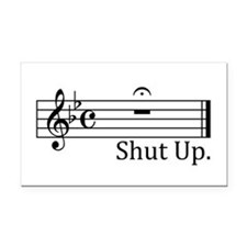 Cute Music Rectangle Car Magnet