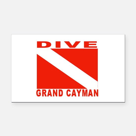 Dive Grand Cayman Rectangle Car Magnet