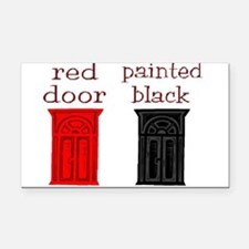 red door painted black Rectangle Car Magnet