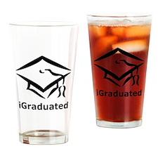 iGraduated Black.png Drinking Glass