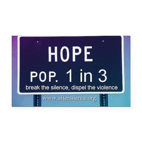 Hope Rectangle Car Magnet