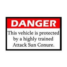 Danger Attack Sun Conure Rectangle Car Magnet
