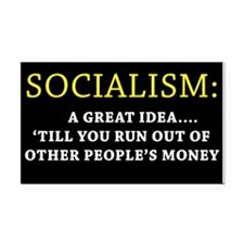 Anti-Socialism Bumper Rectangle Car Magnet