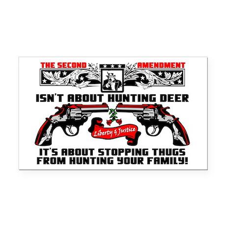"""""""The Second Amendment"""" Rectangle Car Mag"""