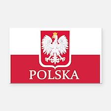 Polish Flag Rectangle Car Magnet