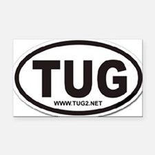 TUG Rectangle Car Magnet