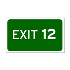 EXIT 12 Rectangle Car Magnet