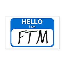 FTM Rectangle Car Magnet