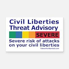 Civil Liberties Threat Level Rectangle Car Magnet