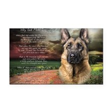 """""""Why God Made Dogs"""" GSD Rectangle Car Magnet"""
