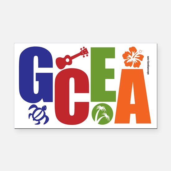 GCEA Ukulele Rectangle Car Magnet