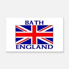 Cute Birmingham heart union jack Rectangle Car Magnet
