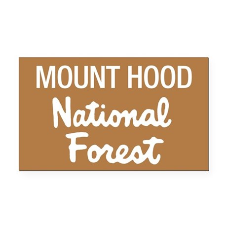 Mount Hood (Sign) National Fo Rectangle Car Magnet