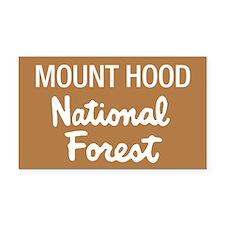 Mount Hood (Sign) National Fo Rectangle Car Magnet
