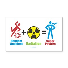 Super Powers Rectangle Car Magnet