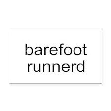 Barefoot Runnerd Rectangle Car Magnet