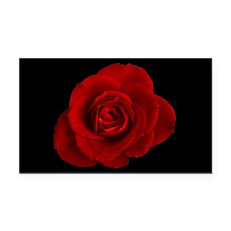 Cannibal's Rose/black Rectangle Car Magnet