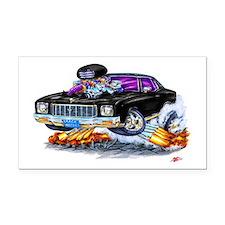 1971 Monte Carlo Black Car Rectangle Car Magnet
