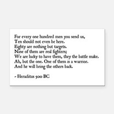 Heraclitus Quote Rectangle Car Magnet