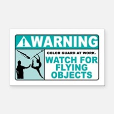 Flying Objects, Teal Rectangle Car Magnet