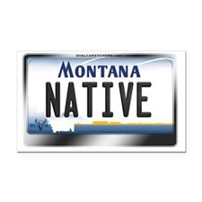 Montana License Plate - [NATIVE] Rectangle Car Mag