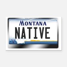 Montana License Plate - [NATIVE] Rectangle Car Mag