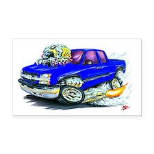 Chevy Silverado Blue Truck Rectangle Car Magnet