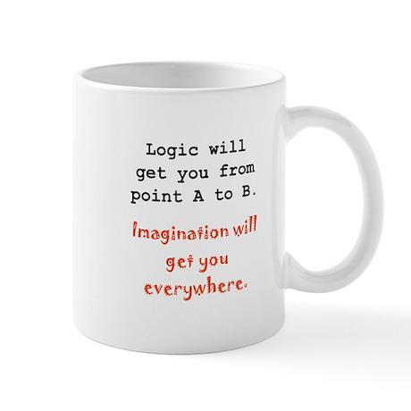 Imagination Everywhere Black.png Mug